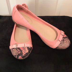 "Shoes - ""Snakeskin Look"" Flats NWOT"